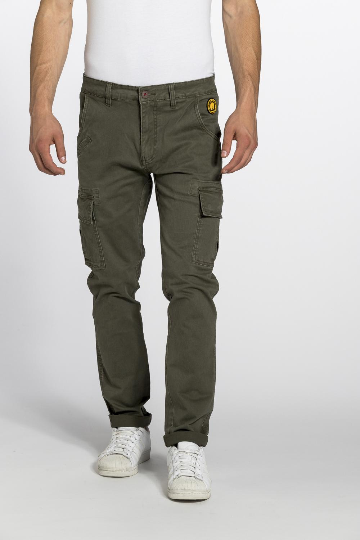 b7ac867c20 Pantalone Uomo verde scuro regular con tasche laterali